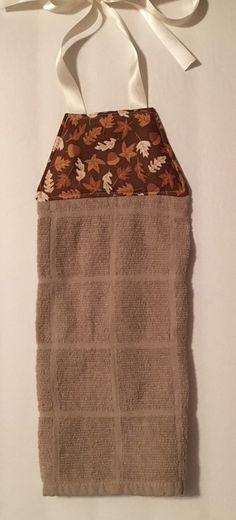 Delightful Fall Hanging Towel, Tie Kithen Towel, Tie Hanging Towel, Dish Towel, Tea