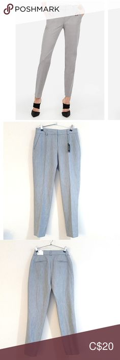 NWT EXPRESS Columnist Mid Rise Ankle Pants Size 2R. NWT EXPRESS Columnist mid rise grey ankle pants. Slim, soft, stretchy and flattering work wear pants. Slant hand pockets, hidden hook and button closure, zip fly with belt loops. Measurements; waist 13.5 inches, inseam 28 inches, rise 9 inches.  All items will arrive clean and come from a smoke free, dog free home. Express Pants Ankle & Cropped Mom Pictures, Plus Fashion, Fashion Tips, Fashion Trends, Ankle Pants, Work Wear, Gray Color, Pants For Women, Sweatpants