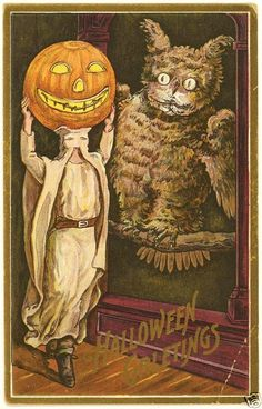 Vintage Halloween Postcards | found this unusual Vintage Halloween postcard on Ebay.