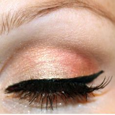 peachy pink - beautiful eyeshadow