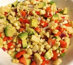 This corn summertime salad is always a hit and so easy and fresh to make!