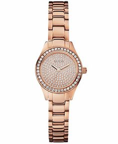 GUESS Watch, Women's Rose Gold-Tone Bracelet 27mm U0230L3