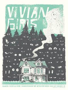 GigPosters.com - Vivian Girls - Widowspeak - Amy Klein And The Blue Star Band