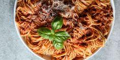 Spaghetti with Cream Meat Sauce Recipe