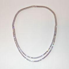 Diamantcollier mit 10 Karat Diamanten aus 585er Weißgold   #diamant #collier #weissgold #diamanten #brillanten #diamantschmuck #diamantcollier