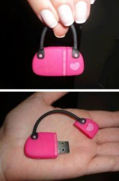 4f7cab1605 Its a girl thing... oveee this mini purse USB adapter! Usb Drive