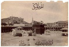 La Kaaba, La Meca,  [reimpresión de Pascal Sebah, Estambul]. 1880-1889.  Abd al-Ghaffar, doctor de La Meca.    © Colección Clark & Joan Worswick