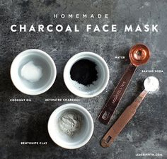 For those of you who have been wondering about how to make your own activated charcoal face mask, here is our DIY charcoal face mask recipe that you can … – Face Diy Mask Charcoal Face Mask Diy, Activated Charcoal Face Mask, Homemade Charcoal Mask, Charcoal Mask Benefits, Face Scrub Homemade, Homemade Face Masks, Homemade Facials, Diy Mask, Diy Face Mask