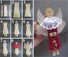 DIY Christmas Popsicle Angel Ornaments