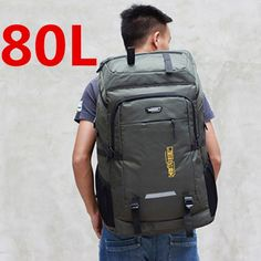 80L unisex men backpack travel pack sports bag pack waterproof Outdoor Mountaineering Hiking Climbing Camping backpack for male Price: 34.90 & FREE Shipping #online #shopping #market #electronics4 #pets #fitness #home #personal #beauty #bags #mobile #camera #jewellery #car #books #toys #kids #fashion Women Camping, Camping And Hiking, Men's Backpack, Hiking Backpack, Hiking Equipment, Sports Equipment, Travel Packing, Trekking, Bag Pack