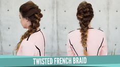Todays tutorial is on the twisted french braid hairstyle on my good friend Claire of www.vanityclaire.com Make sure to check her out! Enjoy! Twisted French B...