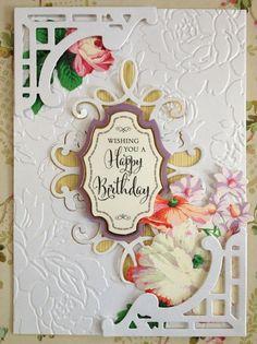 ANNA GRIFFIN PAPER CRAFTS  WISHING YOU A HAPPY BIRTHDAY  HANDMADE GREETING CARD  #Handmade #BirthdayAdult