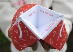zakka life: Free Printable Christmas Cootie Catcher