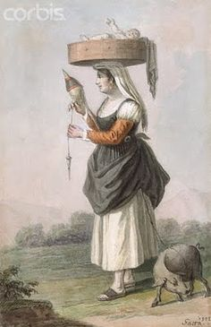 Painting of Country Woman with Baby and Pig by Saverio della Gatta People Around The World, Around The Worlds, Baby Wearing Wrap, Victorian Paintings, 18th Century Fashion, Country Women, Farmer's Daughter, Decoupage Vintage, Art History