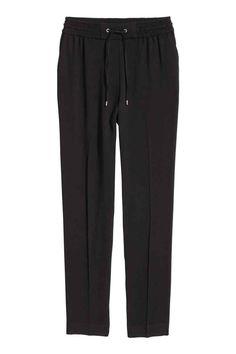 Pantaloni cu elastic în talie - Negru - FEMEI | H&M RO