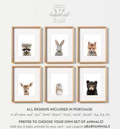 Woodland nursery prints PRINTABLE art Woodland animals