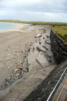 ORKNEY ISLANDS - SKARA BRAE BY BEACH HIDDEN 5,000 YEARS BY SAND  Oh goodness.................