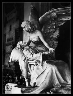 Cemetery - Verona (IT) - photo by Creepy Eyes Cemetery Monuments, Cemetery Statues, Cemetery Headstones, Old Cemeteries, Cemetery Art, Graveyards, Creepy Eyes, Cemetery Angels, I Believe In Angels