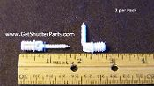 2 Piece Swivel Connector - A hard to find replacement shutter part.  #plantationshutterparts #shutterrepair #diyshutterrepair