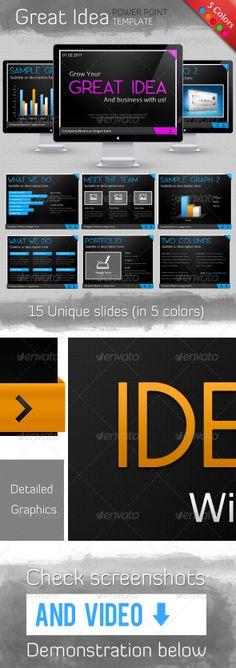 Great Idea Template - Powerpoint Templates Presentation Templates