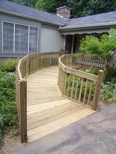 deck with wheelchair ramp Outdoor