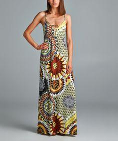 California Women Brown Sunburst Maxi Dress | zulily