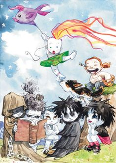 Neil Gaiman's The Sandman: The Endless Family (Dream, Death, Desire, Despair, Delirium, Destruction, Destiny)