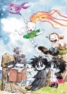 Neil Gaiman's The Sandman: The Endless Family (Dream, Death, Desire, Despair, Delirium, Destruction, Destiny)