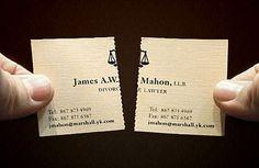 Cartão de visita de advogado especialista em divórcio