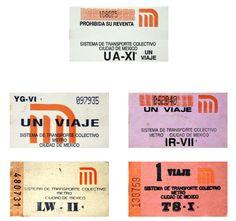 El primero, los de aniversario y los conmemorativos ¡La historia del boleto del Metro en imágenes!