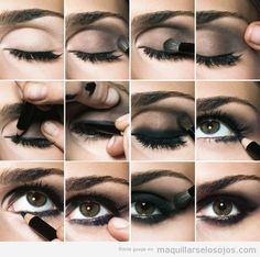 Tutorial con fotos paso a paso para maquillaje de ojos ahumados