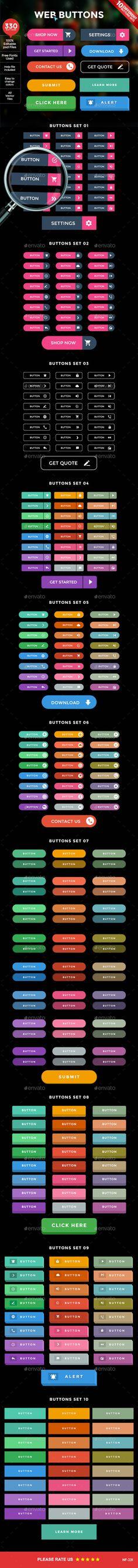 Web Buttons PSD