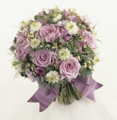 purple+rose+bouquets+for+weddings | ... bouquet of purple roses, some fillers and matching purple ribbon