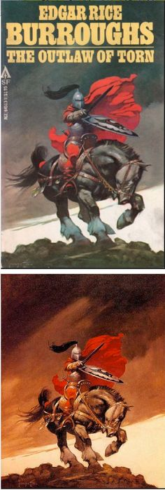 FRANK FRAZETTA - The Outlaw of Torn by Edgar Rice Burroughs - 1978 Ace Books - cover by isfdb - print by frankfrazetta.net