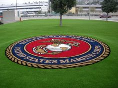 #USMC #military #veterans Marines. Amazing landscaping by Easy Turf - www.HireAVeteran.com