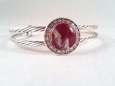 COLOR CHOICE Burgundy Silver or Turquoise  Clear by ClayBeaute, $17.00