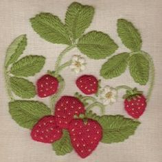 Google Image Result for http://www.wye.co.uk/download/pictures/Crewel_Embroidery_by_Jane_Rainbow/Strawberries_Crewel_Embroidery.jpg