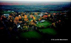 Woodstock Hill Last Light by Leslie Sweetnam
