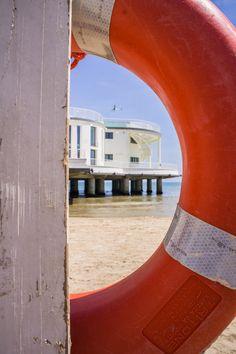 Visit Senigallia Italy and Experience... la rotonda da uno degli stabilimenti del lungomare.