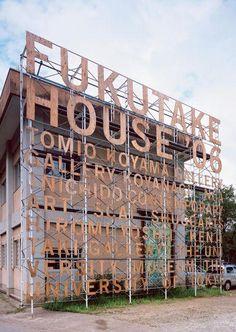 Signage Fukutake House Masayoshi Kodaira via @ei8htdesign