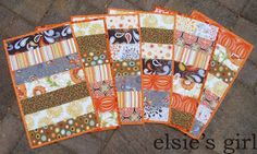 elsie's girl: fall placemats