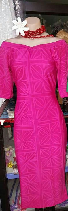 Island Wear, Island Outfit, African Print Dresses, African Dress, Samoan Dress, Hawaiian Fashion, Hawaiian Dresses, Muumuu, Fiji