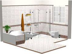Die schönsten Badezimmer Ideen | Gäste wc, Bordüren und Gast