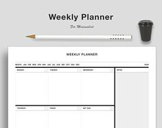 Minimalist Clean Weekly Planner A3 Wall Planner - 30 pieces - Calendar - Academic Calendar - Weekly Planner