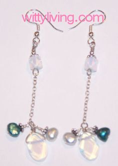 Sea Opal and Pearl Beaded Earrings Projects