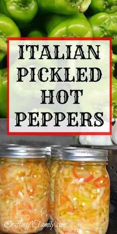 These fantastic Canned Pickled Hot Peppers fresh from the garden last long in the pantry and are great for a summer treat in the winter.