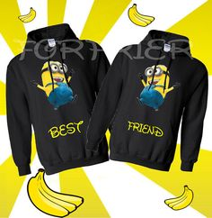 Two Matching BEST FRIEND Hoodie from forfrier on Etsy