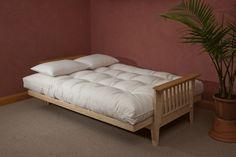 Adorable Futon Mattresses With 2 White Pillows