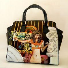 borsa dipinta a mano La Giustizia di Klimt