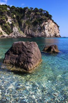 Alonaki cove in crystal clear water, Greece - Epirus